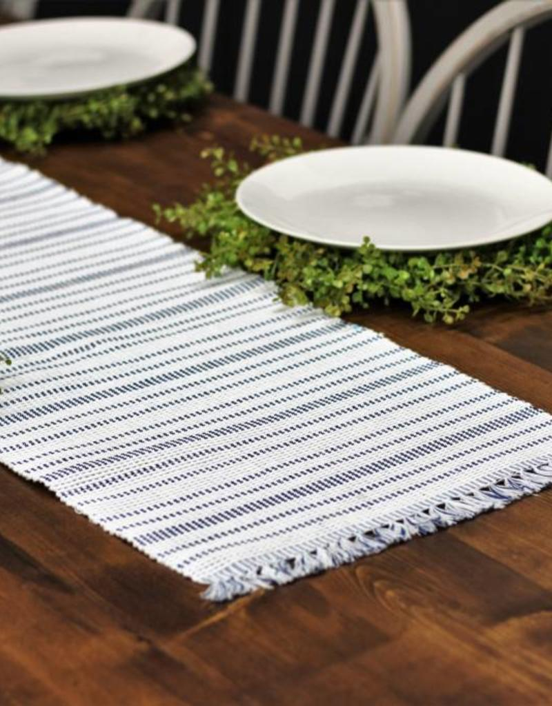 Harris Stripe Navy Table Runner