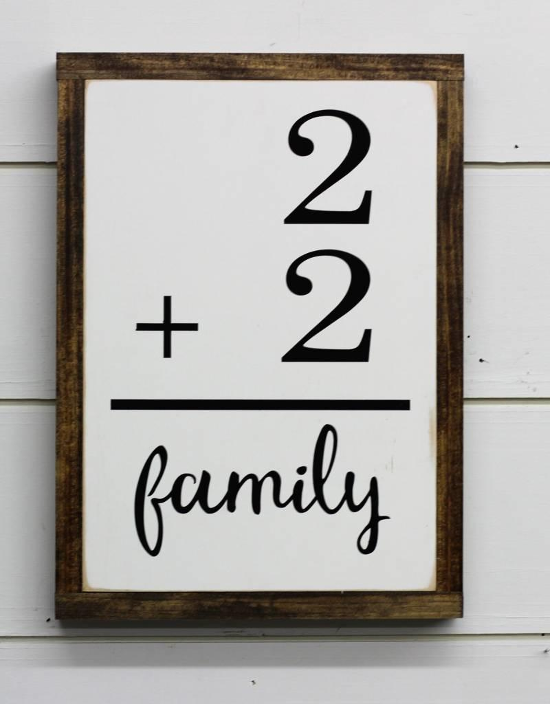 Family Flashcard Sign