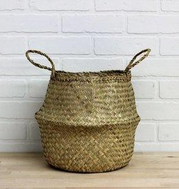 Bulge Seagrass Basket, Natural