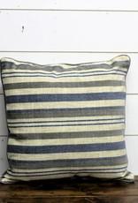 Blue Acunins Stripe Throw Pillow