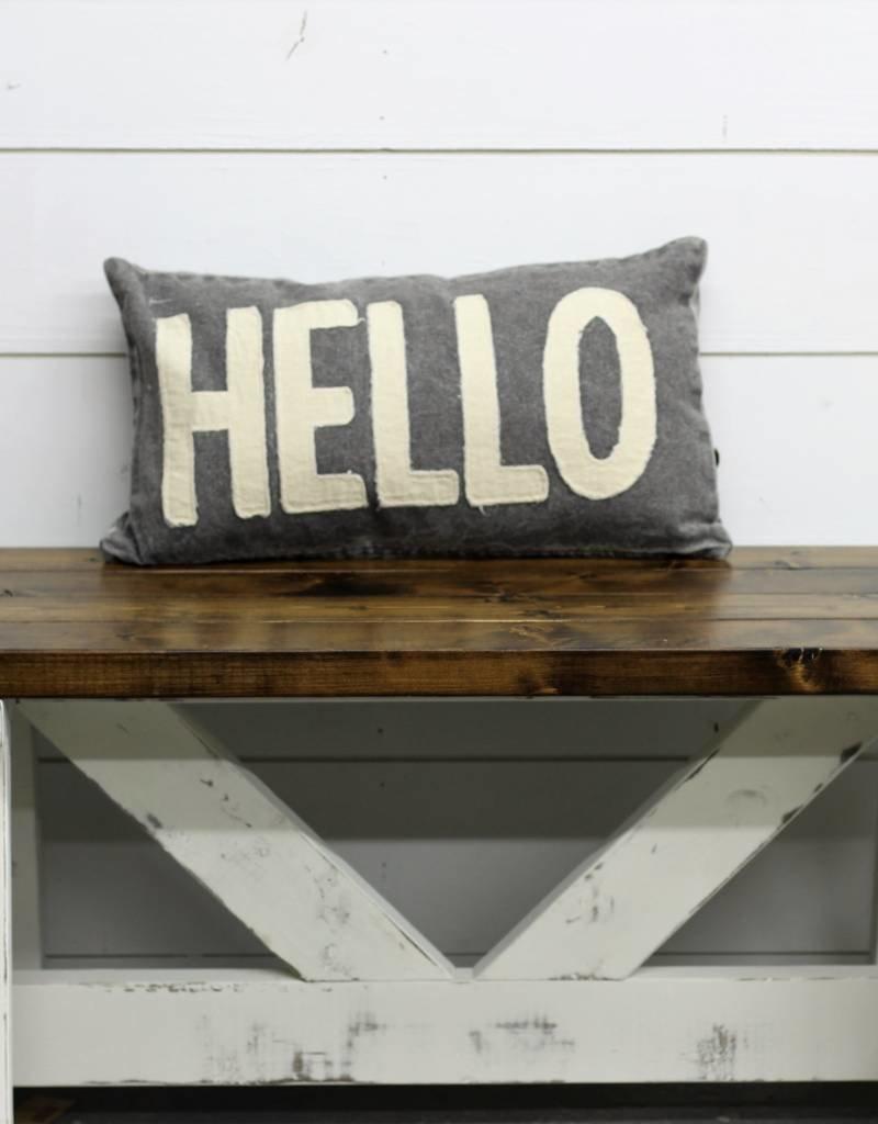 Hello Canvas Pillow