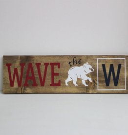 "Wave the ""W' Cubs Sign"