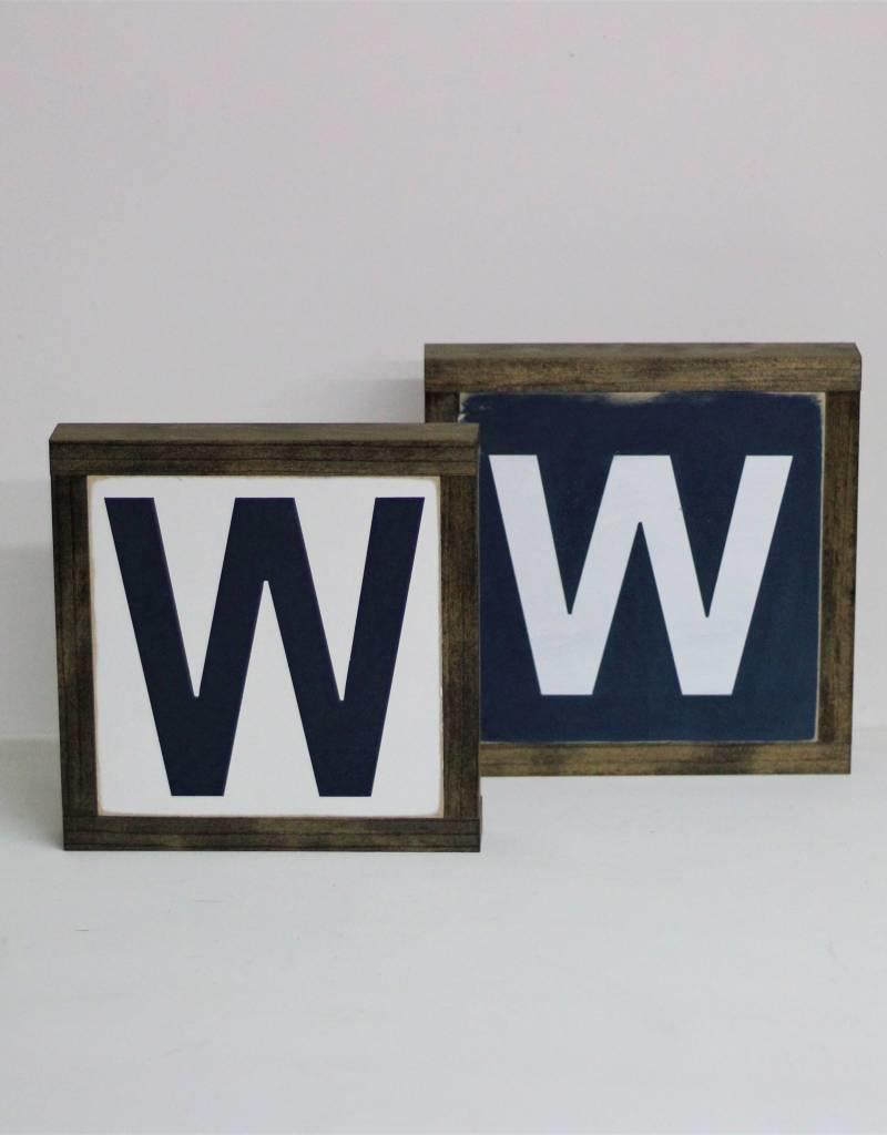 """""""W"""" Cubs Sign"""