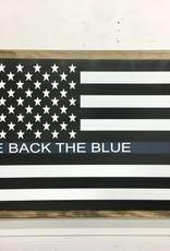 We Back the Blue Flag