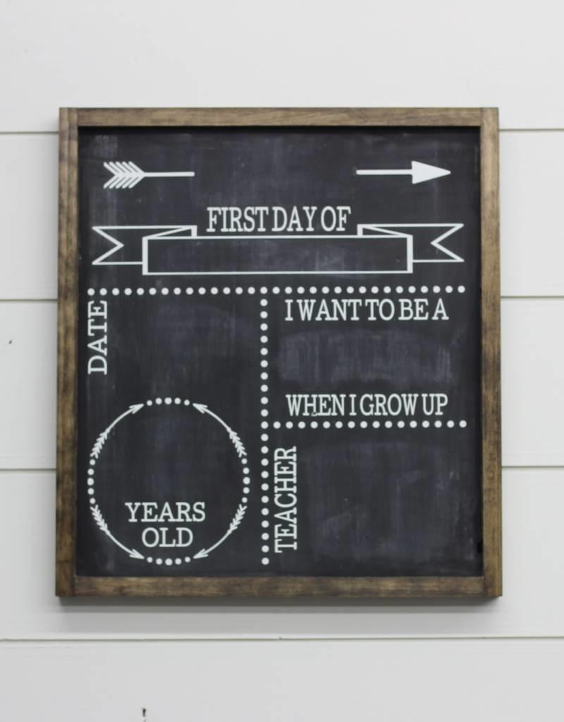 Double Sided Back to School/Birthday Sign