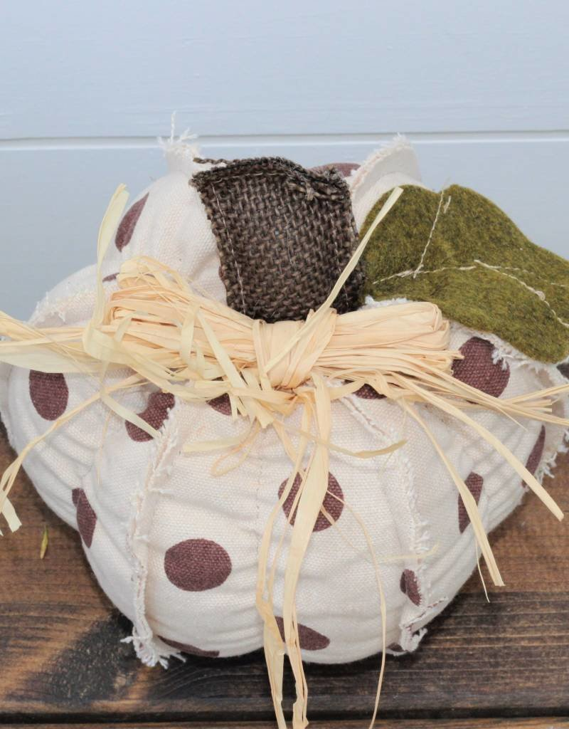 Patterned Fabric Pumpkin- 4 styles