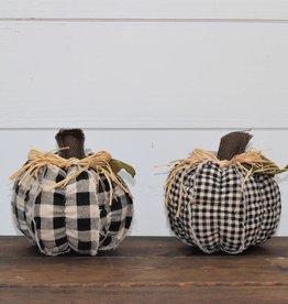 Patterned Fabric Pumpkin- 4 styles