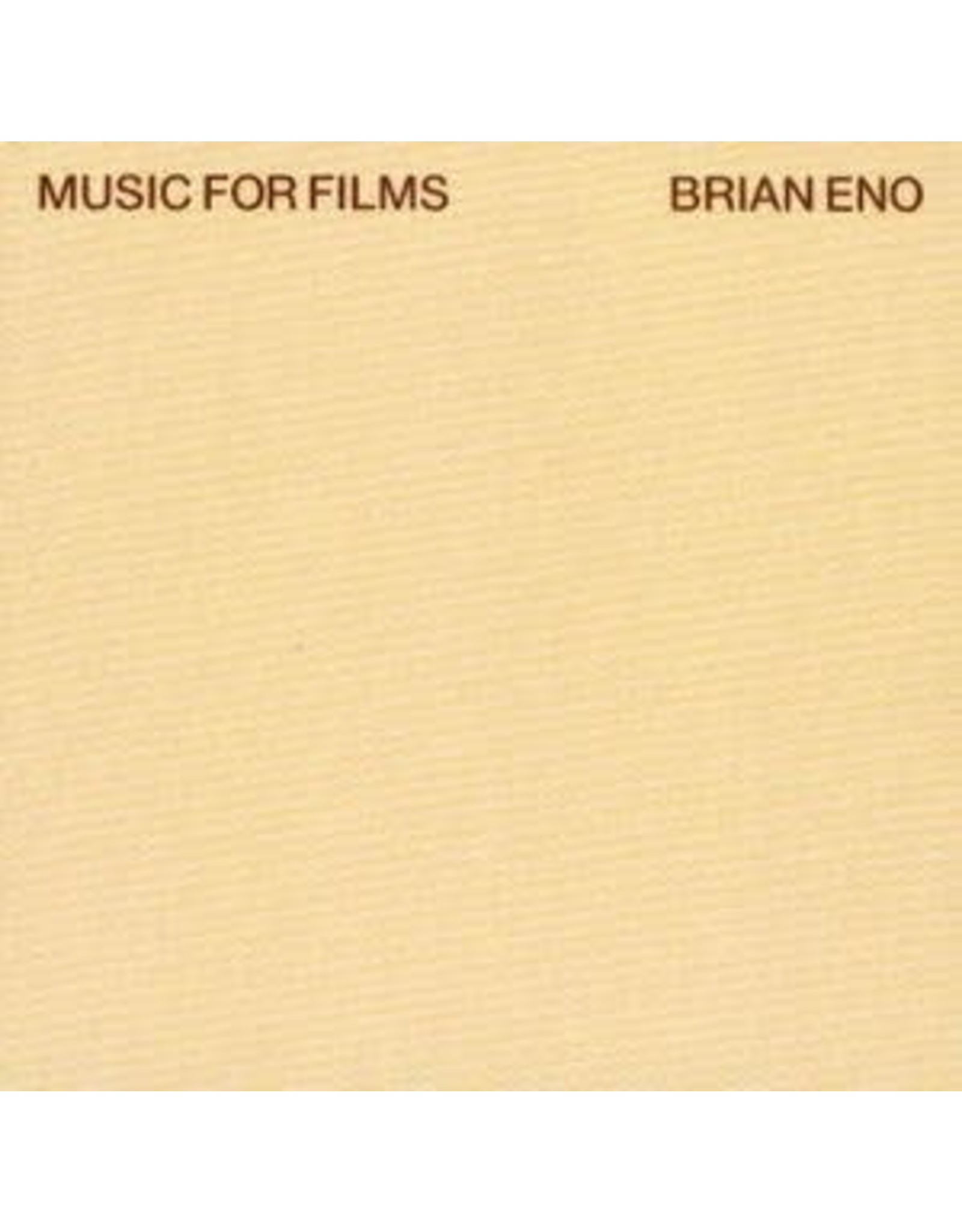 Astralwerks Eno, Brian: Music For Films (2LP/Half-Speed) LP