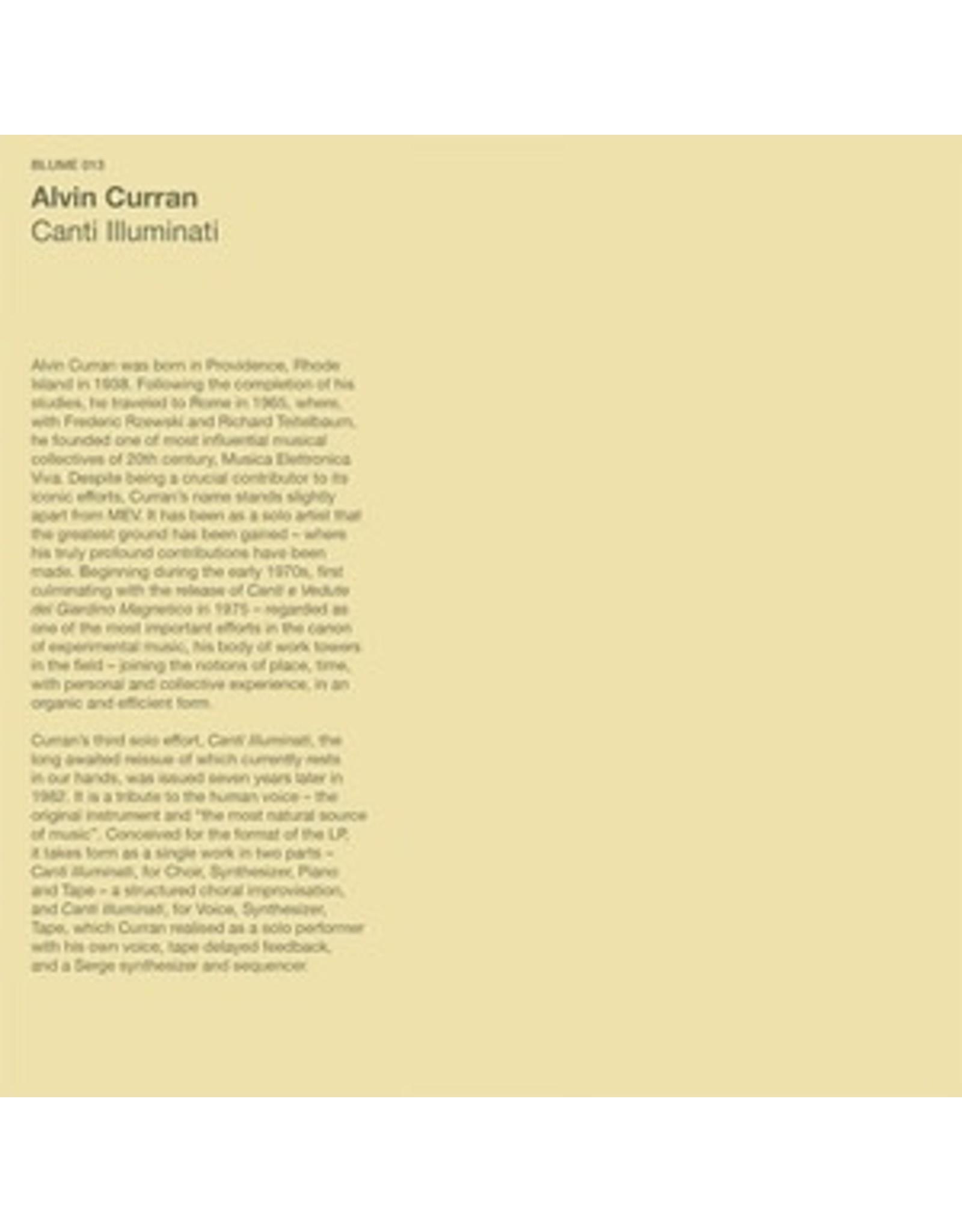 Blume Curran, Alvin: Canti Iluminati LP