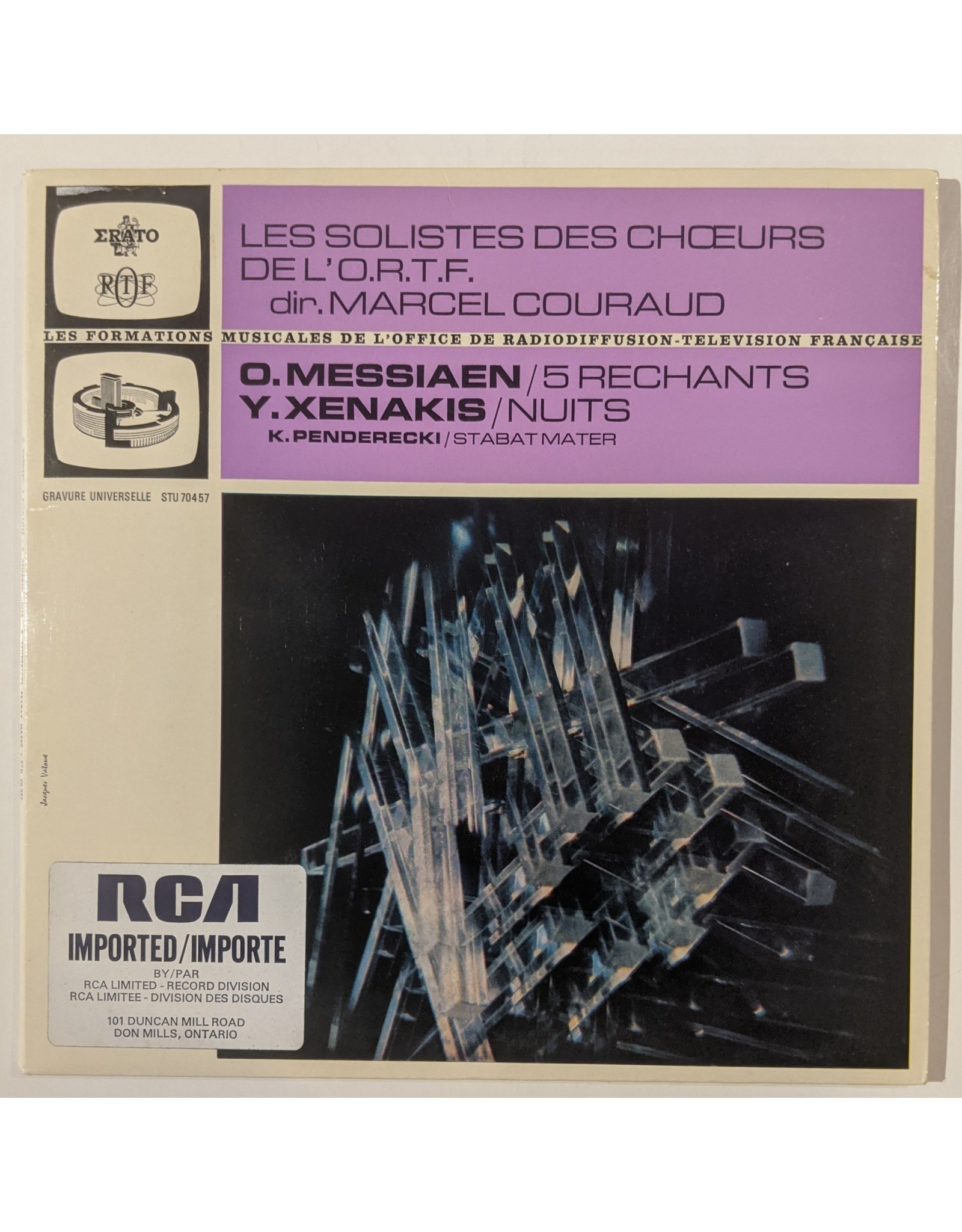 USED: Messiaen/Xenakis/Penderecki: 5 Rechants/Nuits/Stabat Mater LP