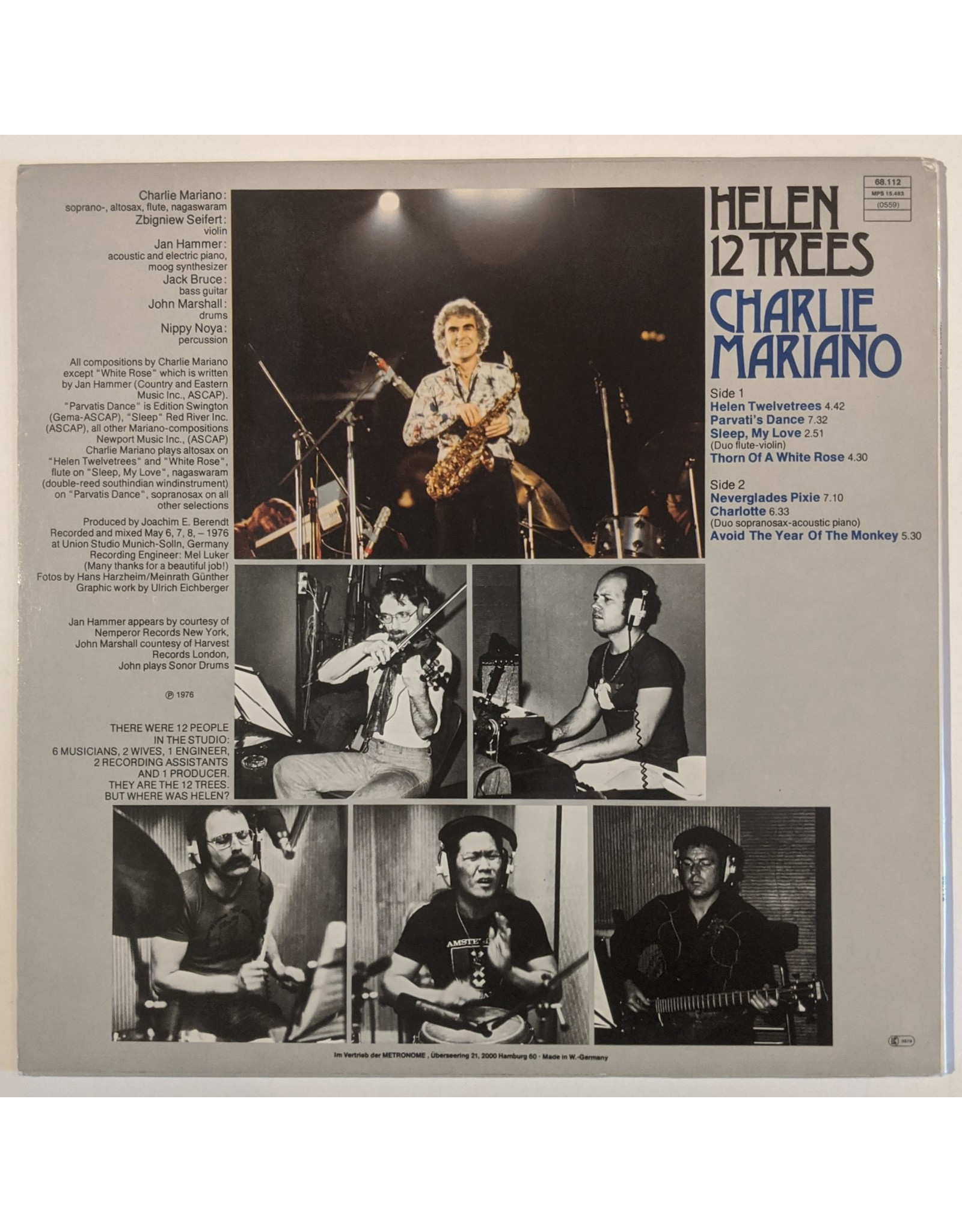 USED: Charlie Mariano: Helen 12 Trees LP