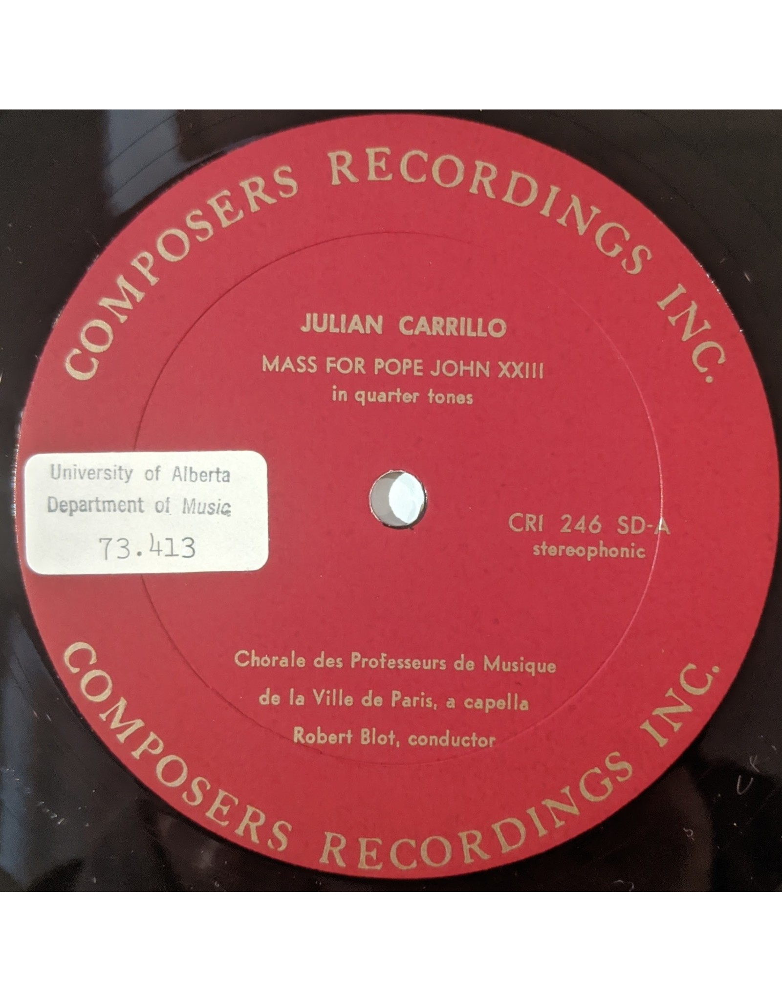 USED: Julian Carrillo: Mass for Pope John xxiii LP