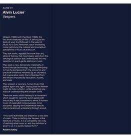 Blume Lucier, Alvin: Vespers LP