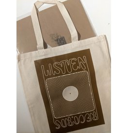 Listen Listen Tote Bags