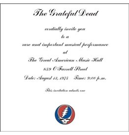 Future Days Grateful Dead: One From The Vault: Live at the Great American Music Hall, San Francisco 8/13/75 3LP