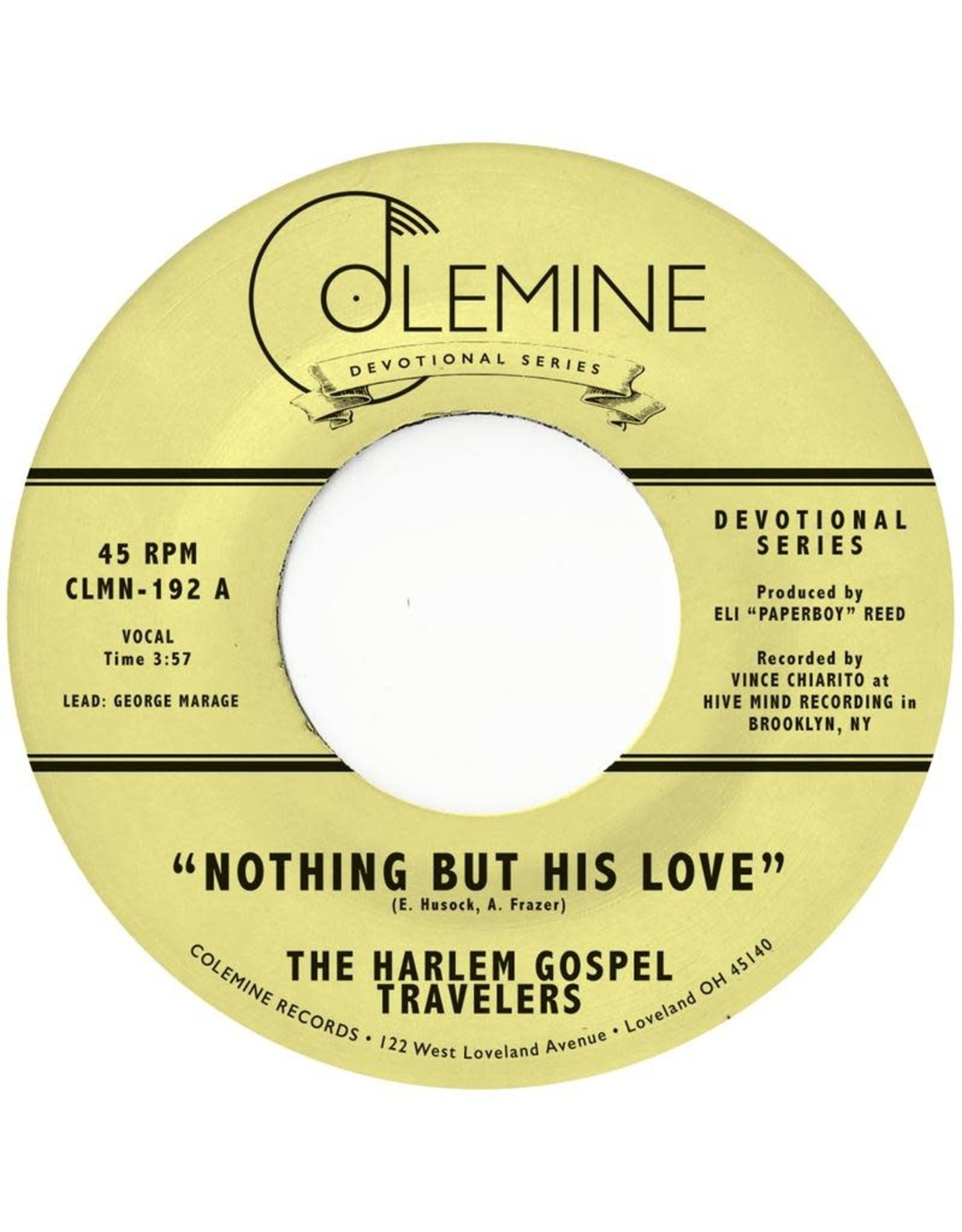 Colemine Harlem Gospel Travelers: Nothing But His Love LP