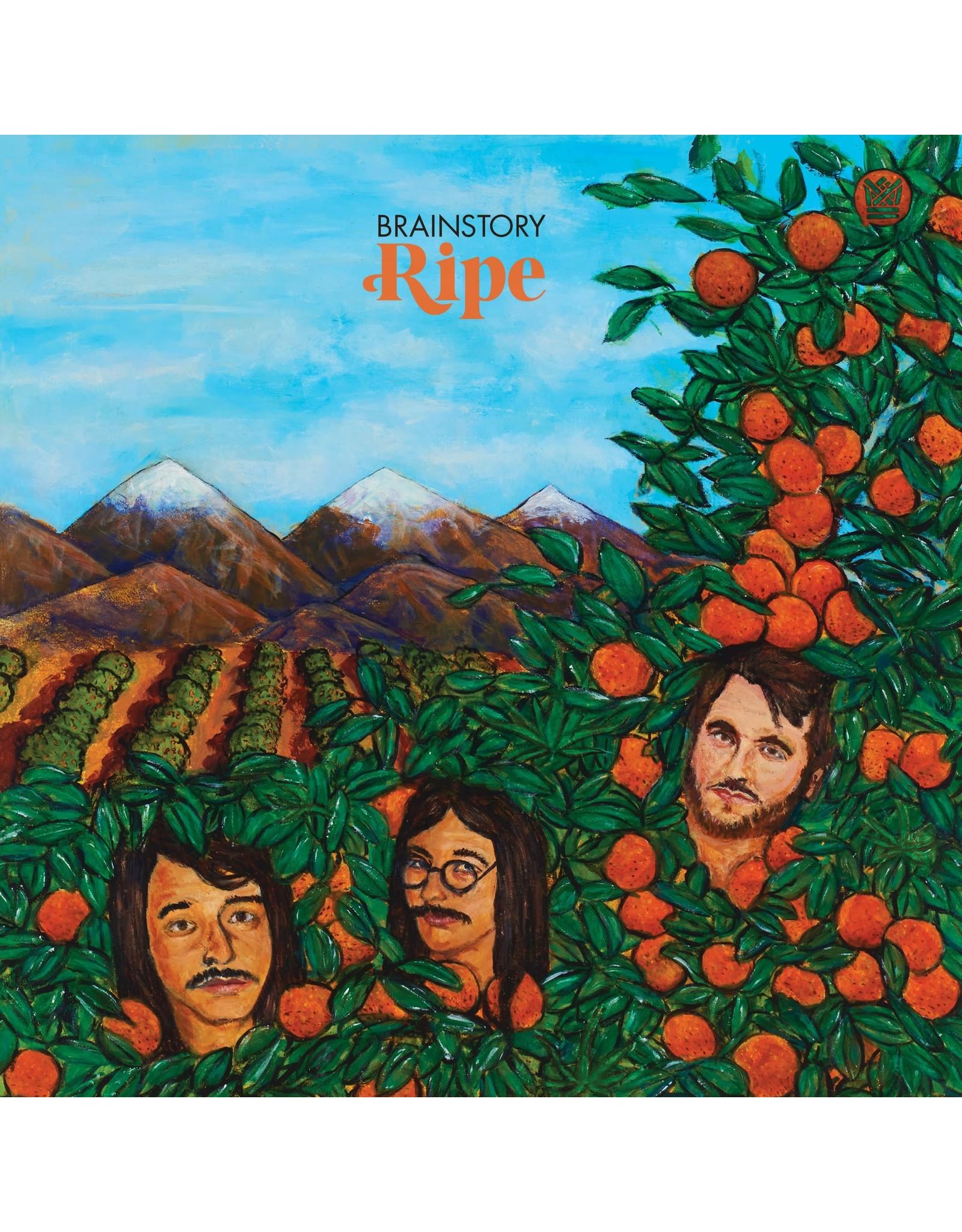 Big Crown Brainstory: Ripe EP (transparent with green & orange swirl) LP