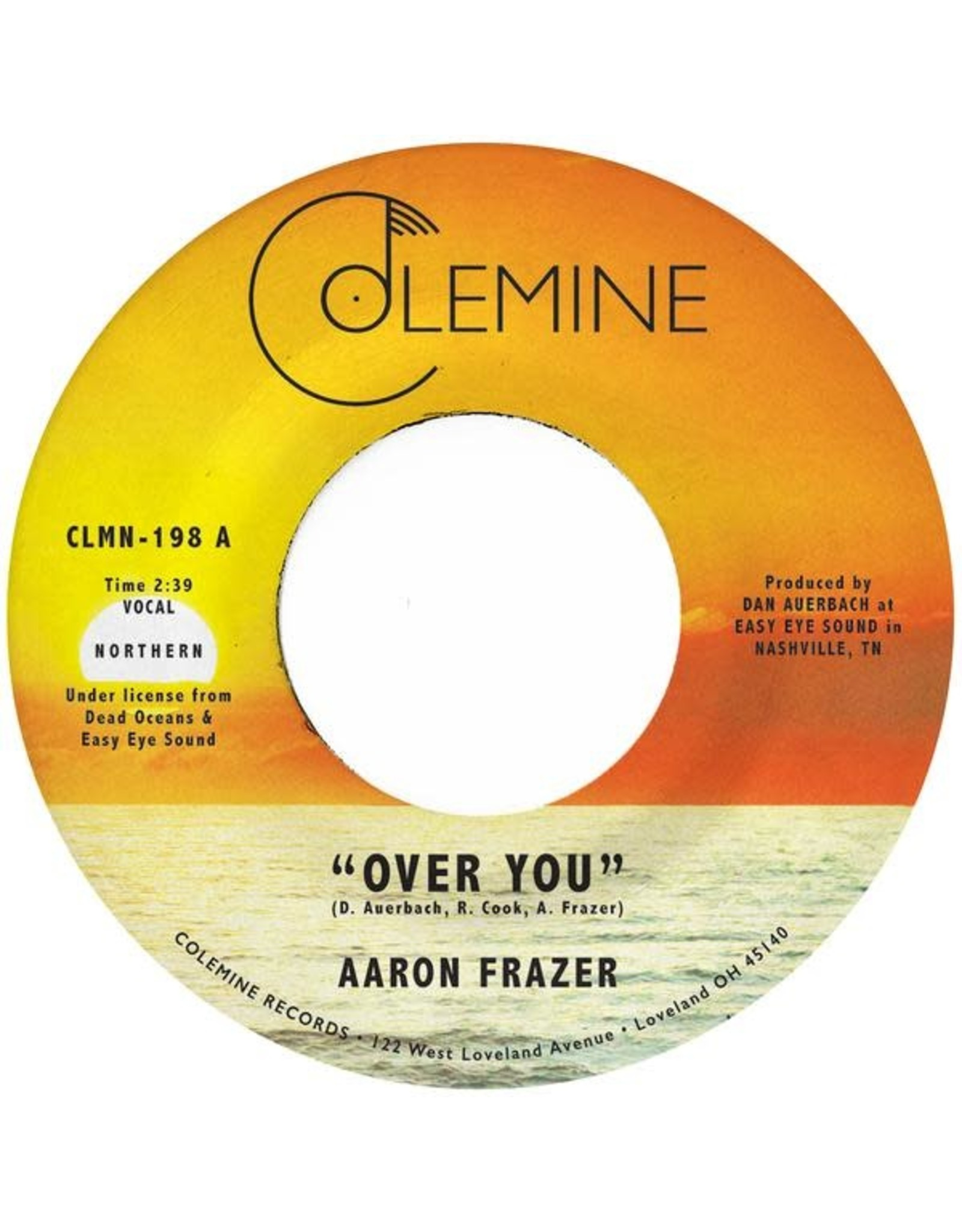 "Colemine Frazer, Aaron: Over You (translucent orange) 7"""