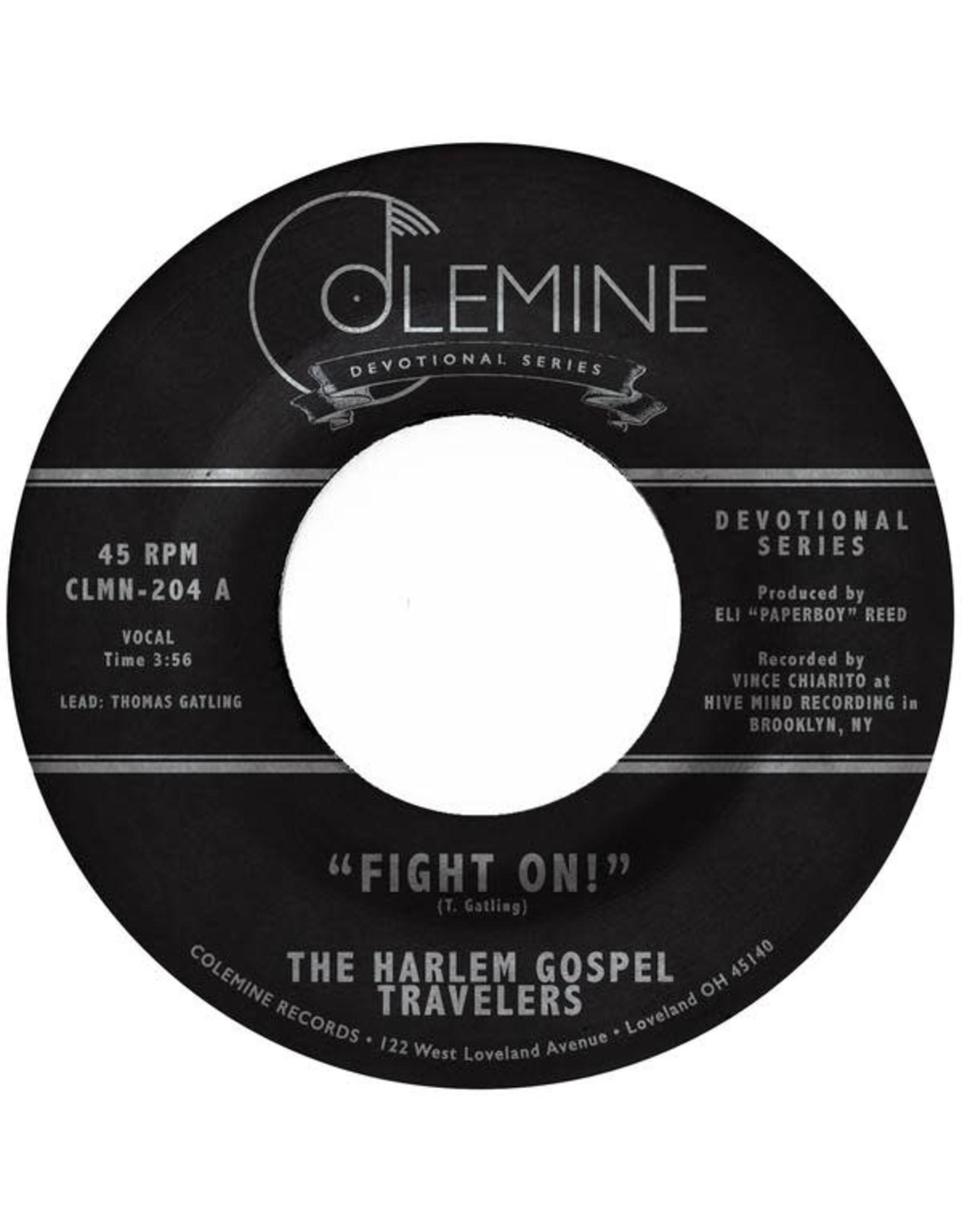 "Colemine Harlem Gospel Travelers: Fight On! 7"""