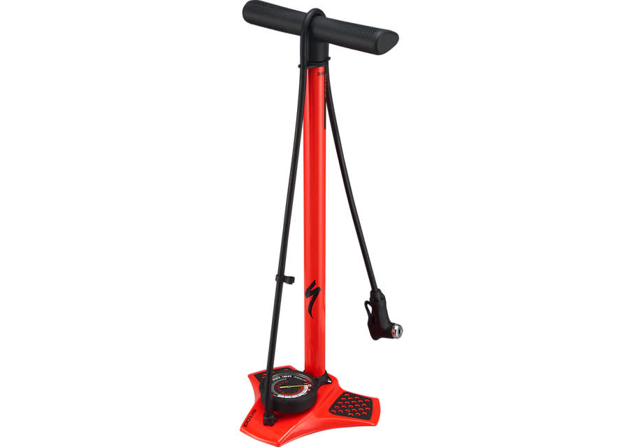 Air Tool Comp Floor Pump Red