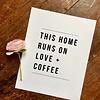 Declaration & Co. 810 Print Home Runs On Love + Coffee