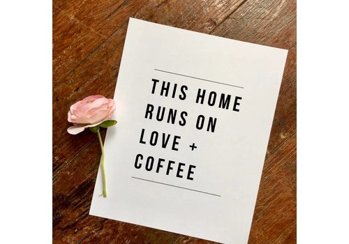 Declaration & Co. 810 Print Home Runs On Love + Coffee