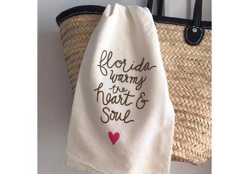 Declaration & Co. Florida Heart and Soul Tea Towel