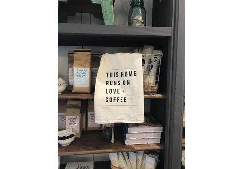 Declaration & Co. Love + Coffee Tea Towel
