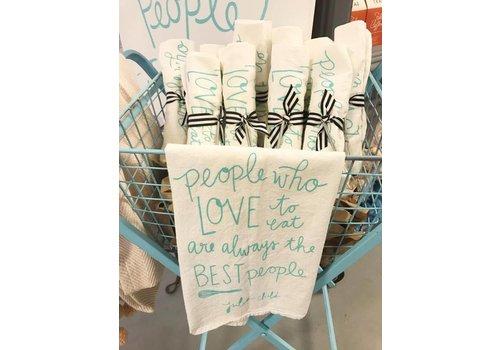Declaration & Co. Love To Eat Tea Towel