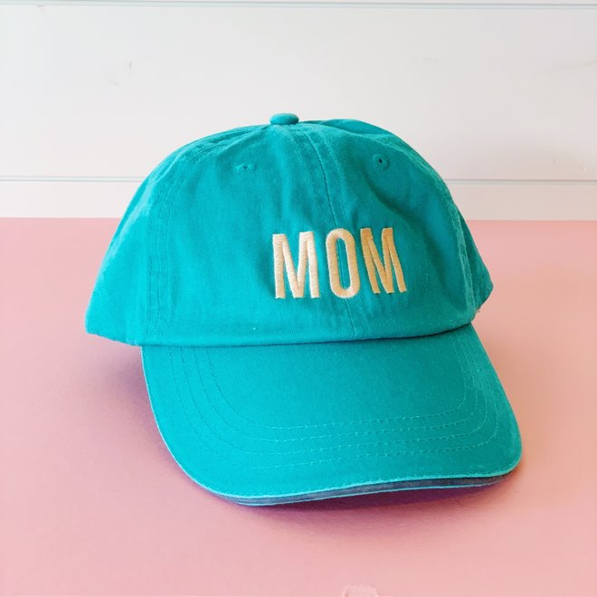 Mom Hat Turquoise