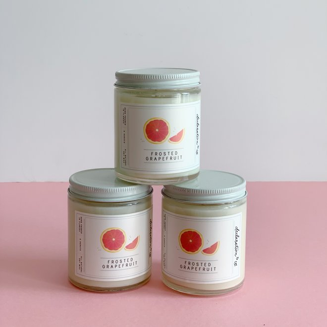 Frosted Grapefruit Mini Candle