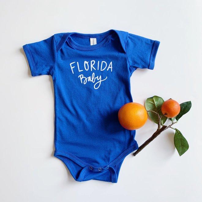 Florida Baby Onesie Blue