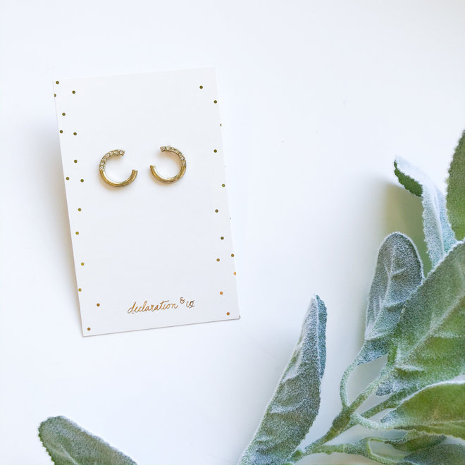 Antiqued Gold Open Circle Studs