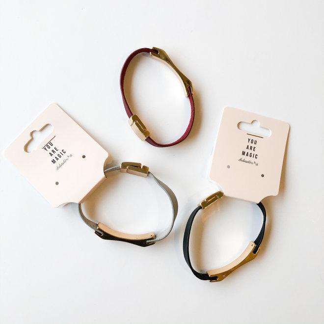 Inner Circle Leather Bracelet