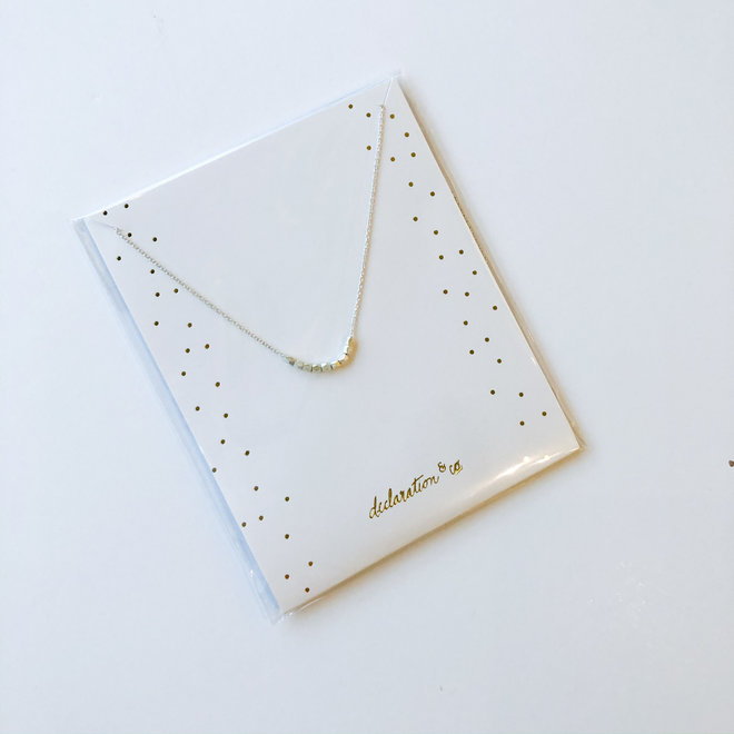 Uptown Necklace Dainty Silver Beads