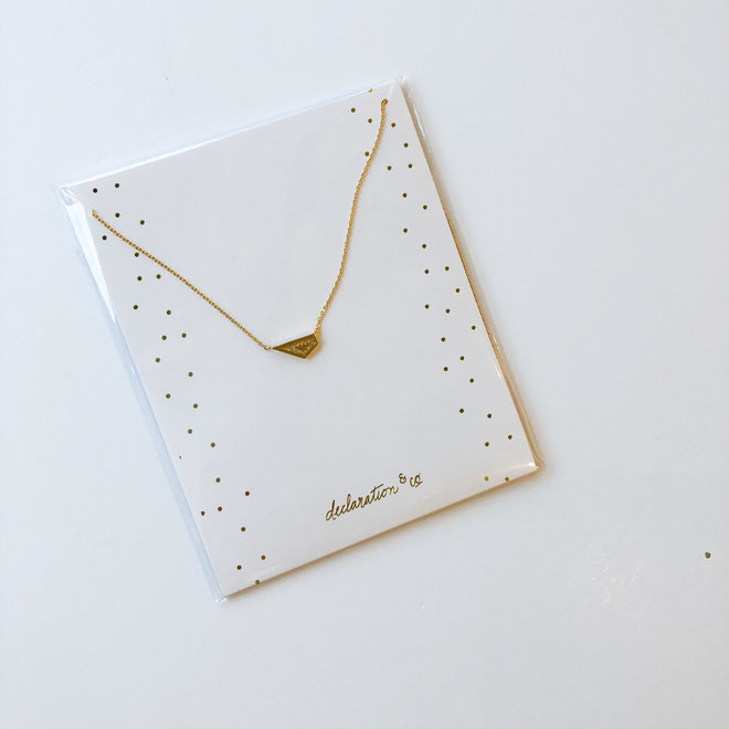 Uptown Necklace Sparkly Geometric Pendant