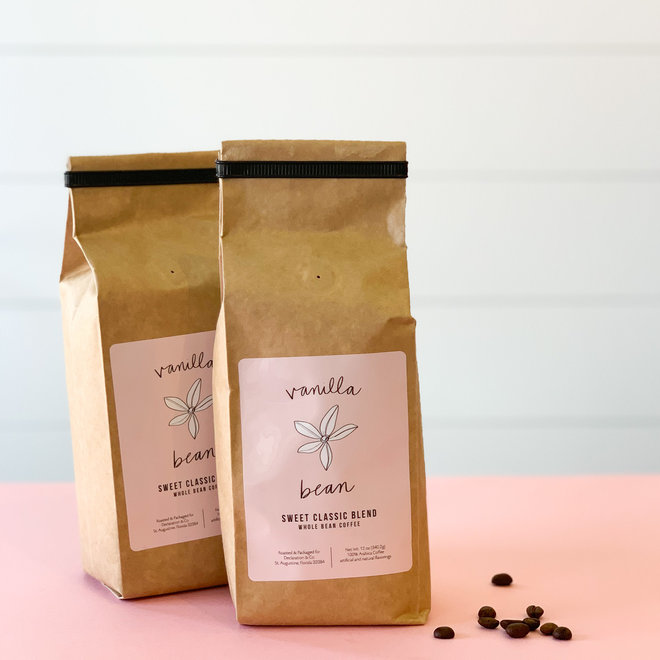 Vanilla Bean Coffee Whole Bean