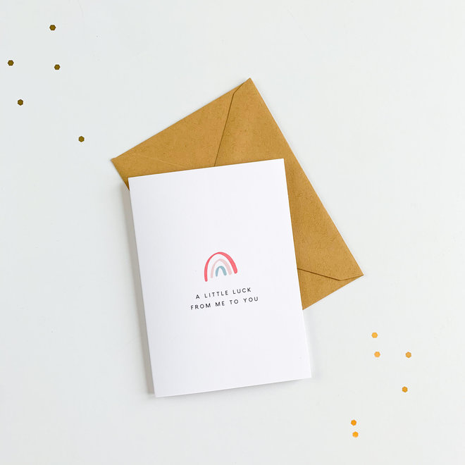 D & Co Classing Greeting Card- Luck
