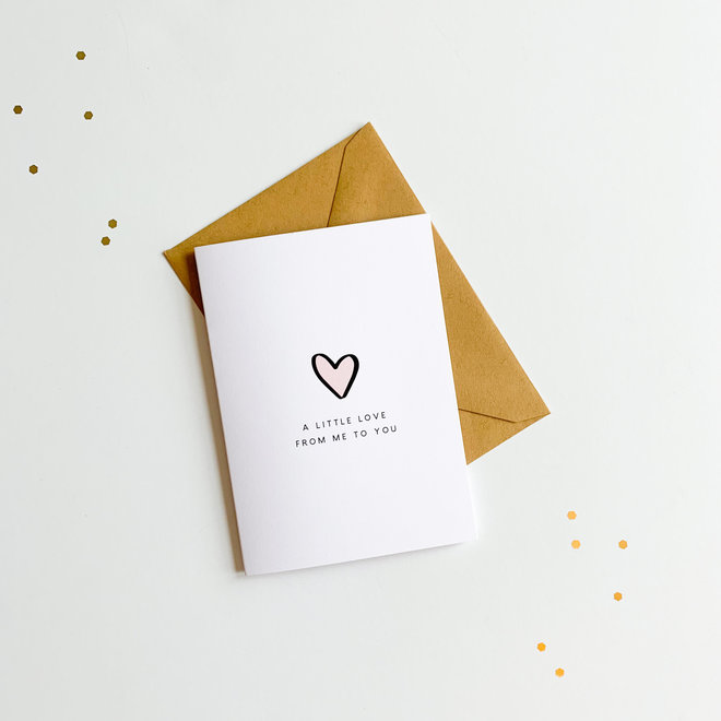 D & Co Classic Greeting Card- Love