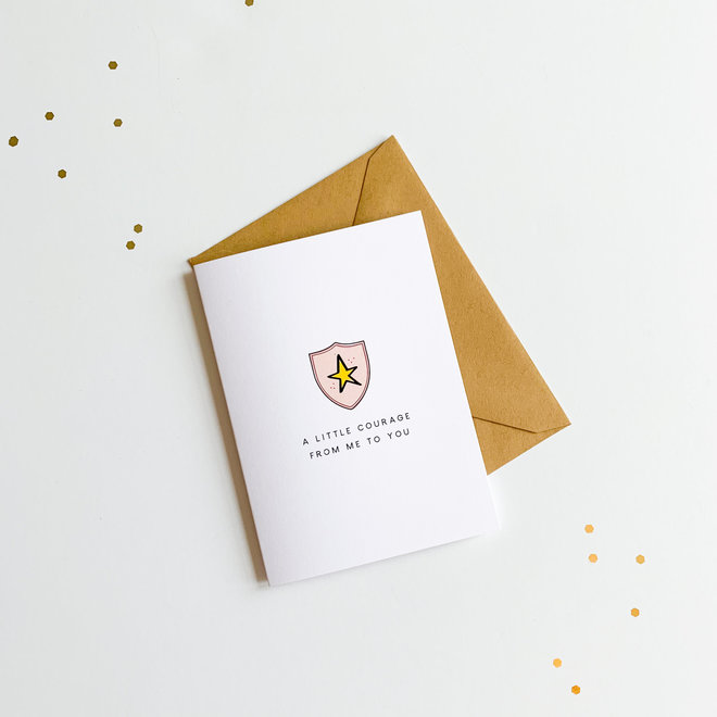 D & Co Classic Greeting Card- Courage