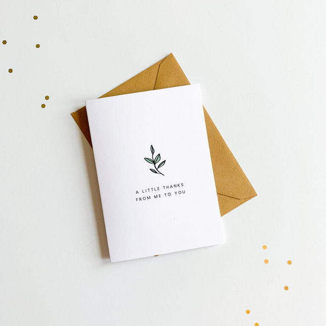 D & Co Classic Greeting Card- Thanks