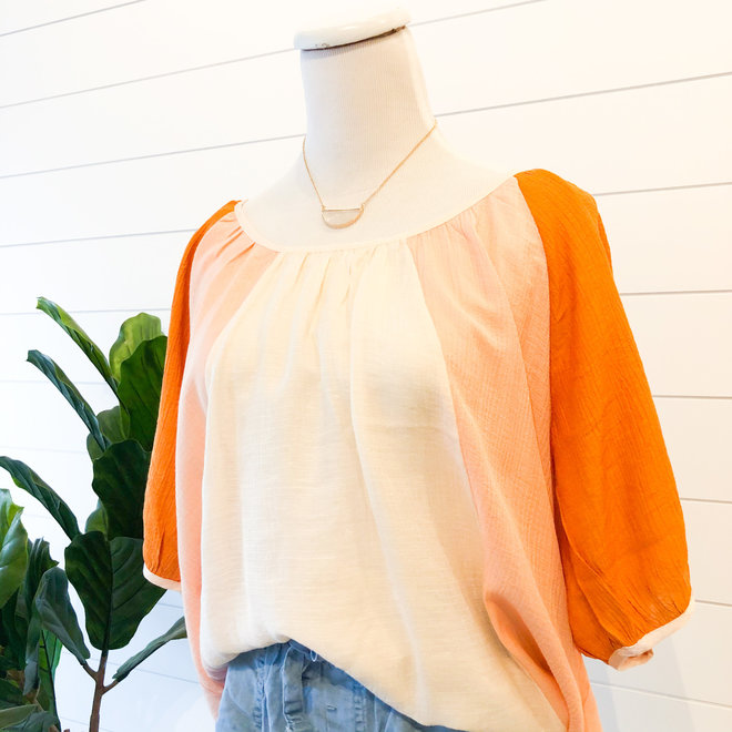 Just Another Day Color Block Top