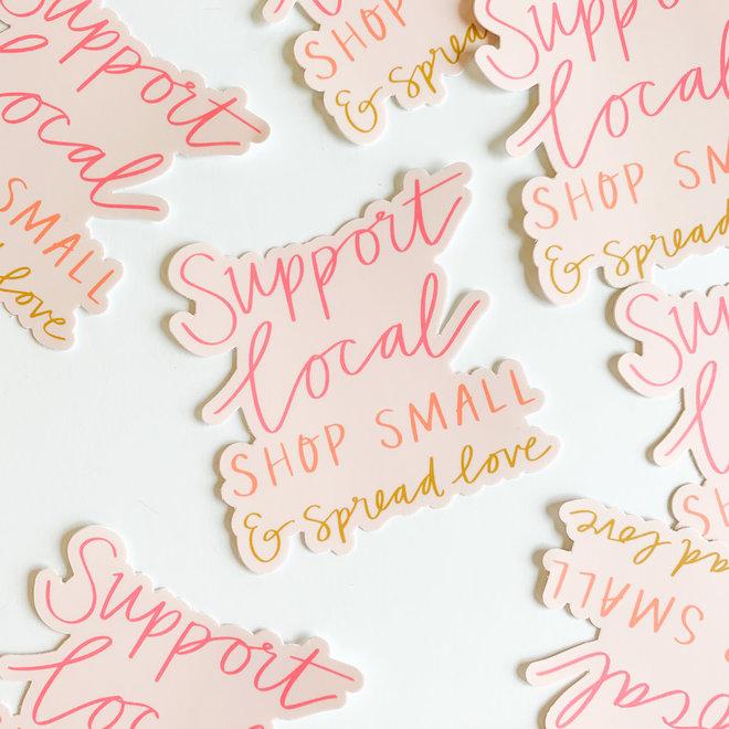D & Co Shop Small Spread Love Sticker