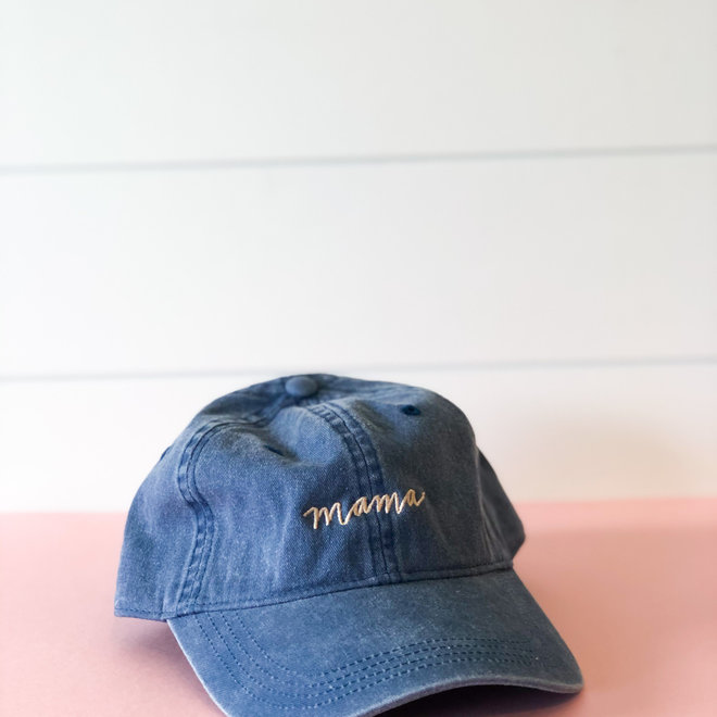 D & Co Script Mama Blue Hat