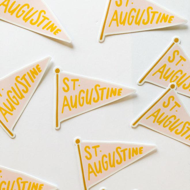 D & Co Yellow STA Pennant Sticker