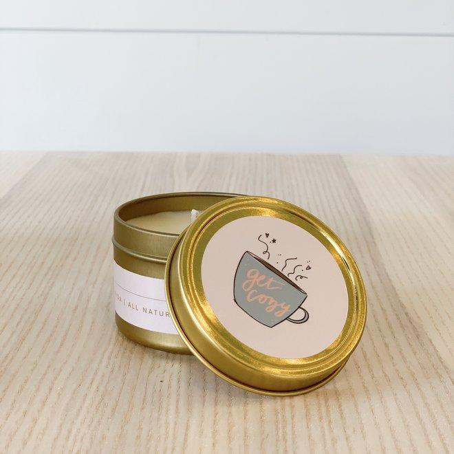 Get Cozy 3 oz Tin Candle