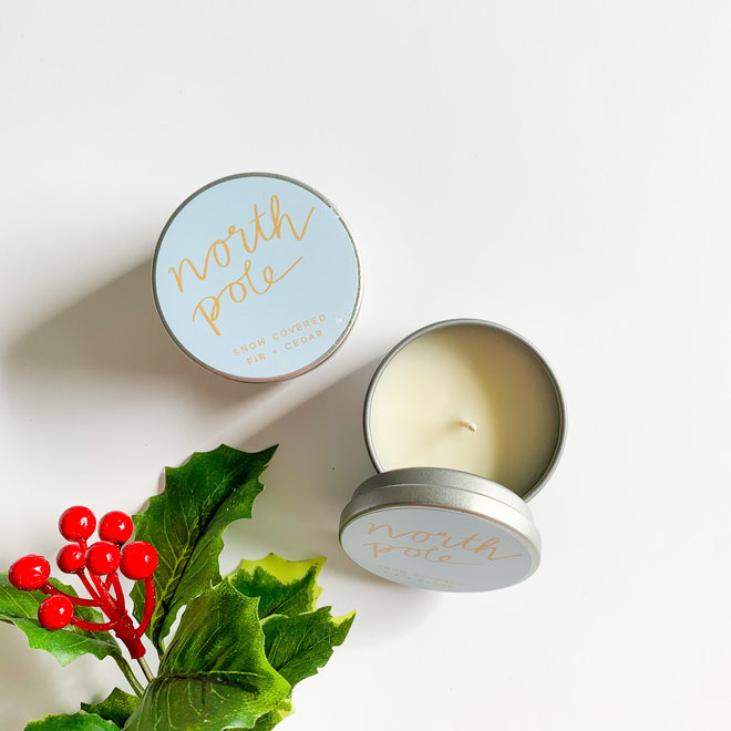 North Pole  Tiny Tin Candle