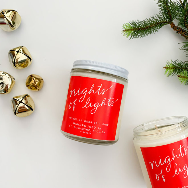 Nights of Lights 8 oz Candle