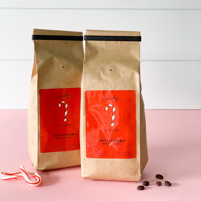 D & Co. Coffee Candy Cane Whole Bean