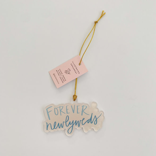 Forever Newlyweds Acrylic Ornament
